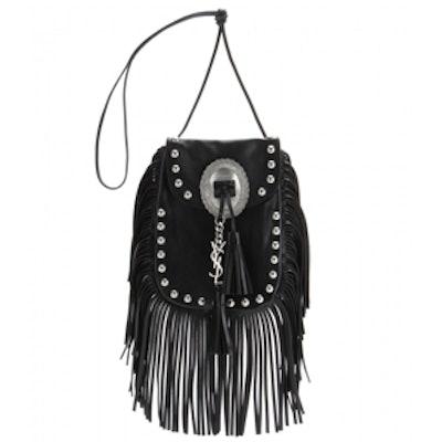 Fringed Leather Shoulder Bag