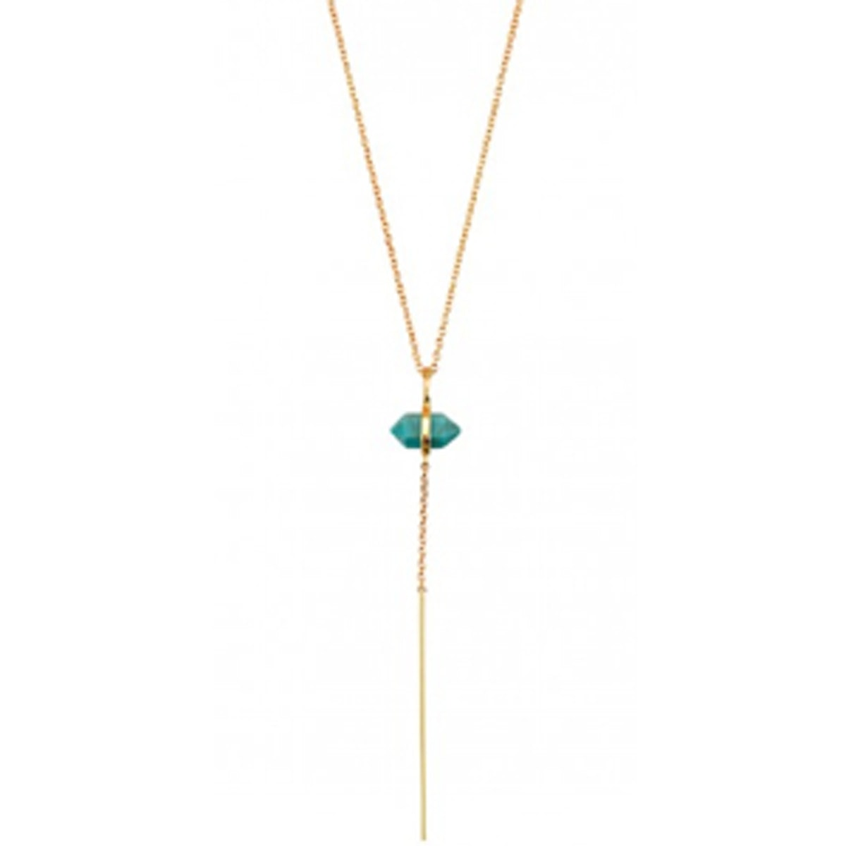 Band of Outsiders Drop Necklace in Turquoise