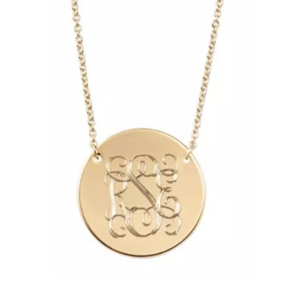 Engravable Disc Necklace