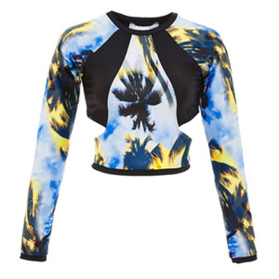Palm Long Sleeve Cutout Rash Guard