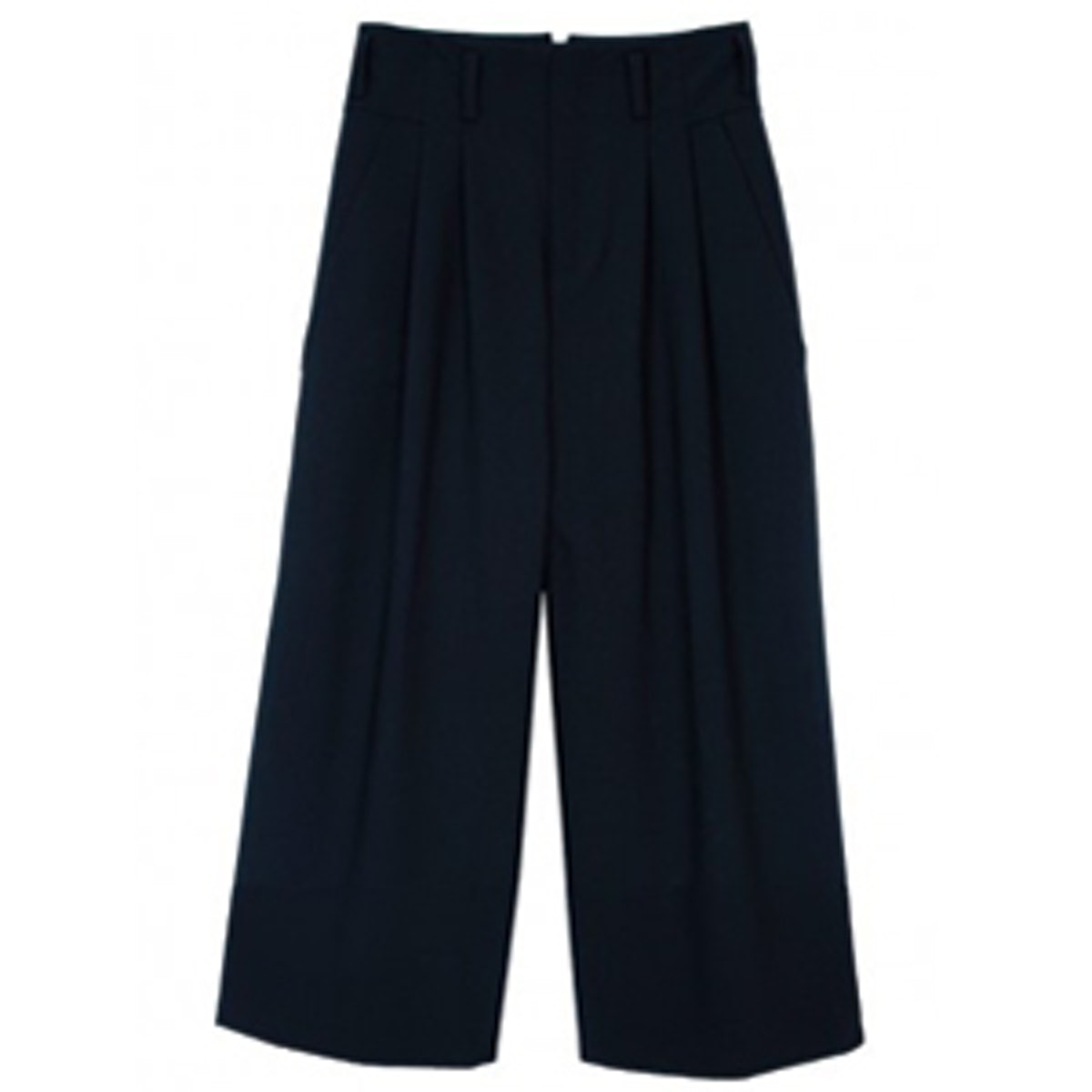 Pleated Culottes in Navy