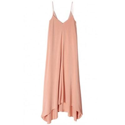 Silk Handkerchief-Hem Dress