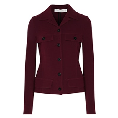 Buttoned Crepe Jacket