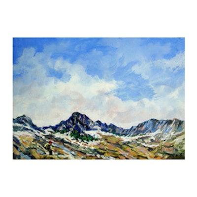 Vintage Painting of Colorado