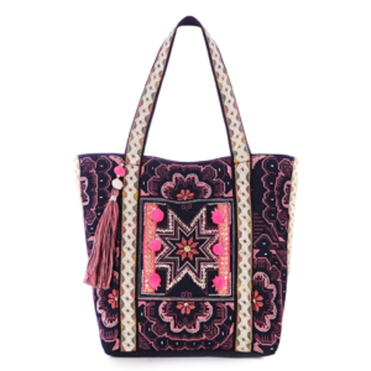 Star Embroidered Shopper