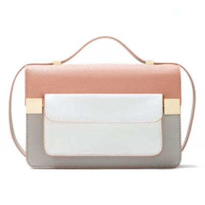 Color-Block Messenger Bag