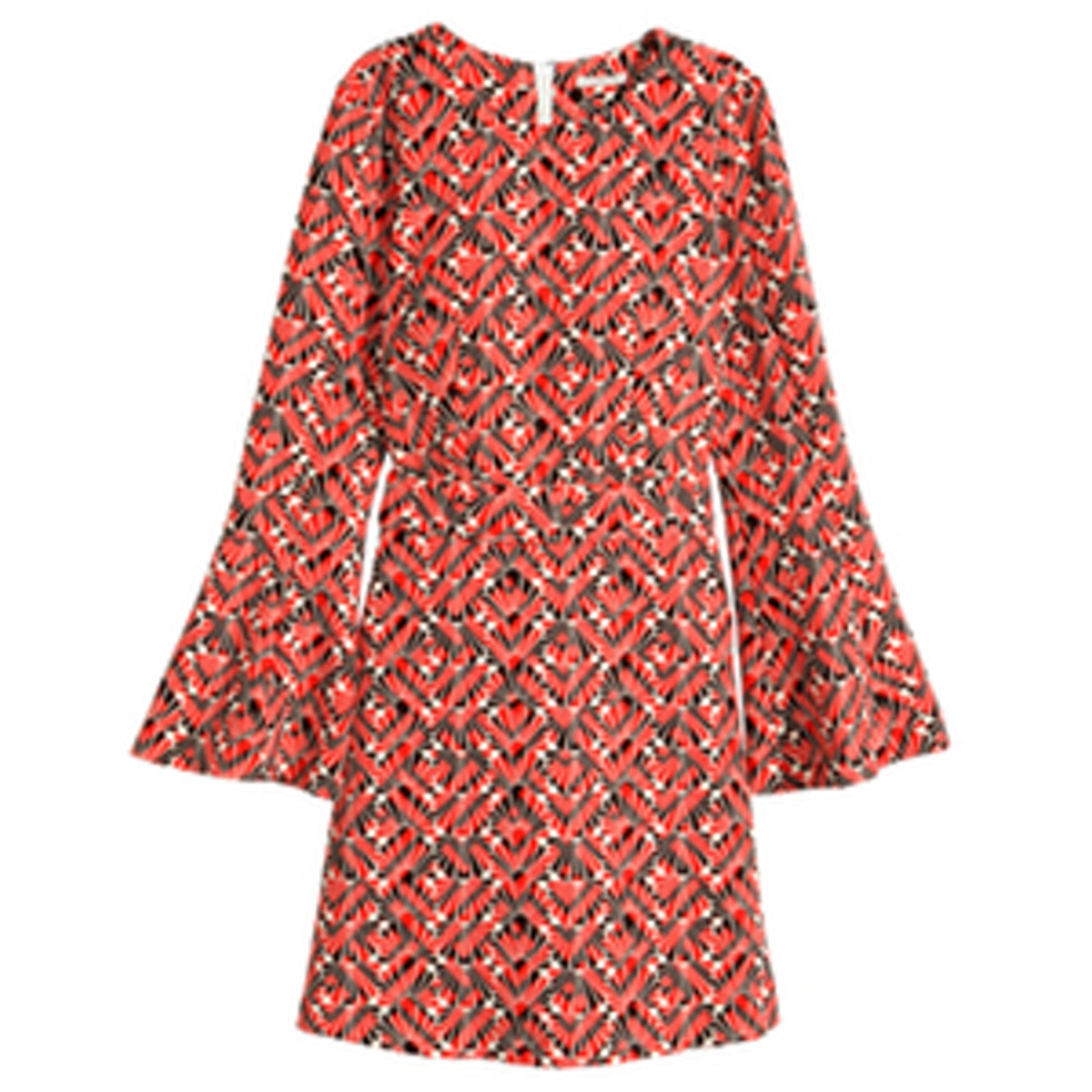 Dress With Trumpet Sleeve