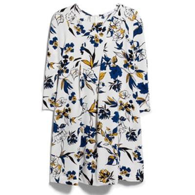 Seam Printed Dress