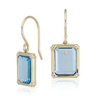 Robert Leser Windows Blue Topaz Earring