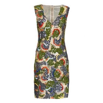 Alaina Embellished V-Neck Dress