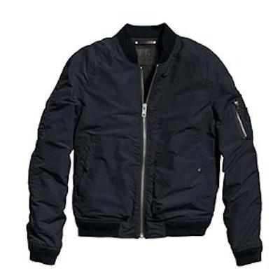 Waxed Nylon Aviator Jacket