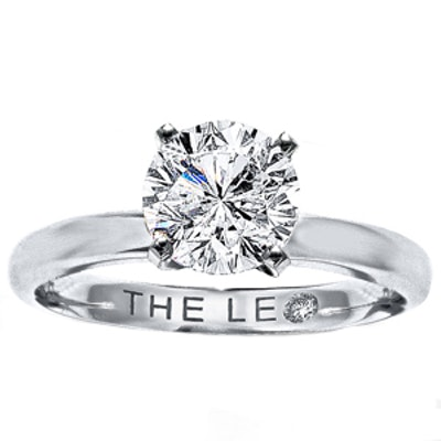 1.5 Carat Round Cut Diamond & 14K White Gold Ring