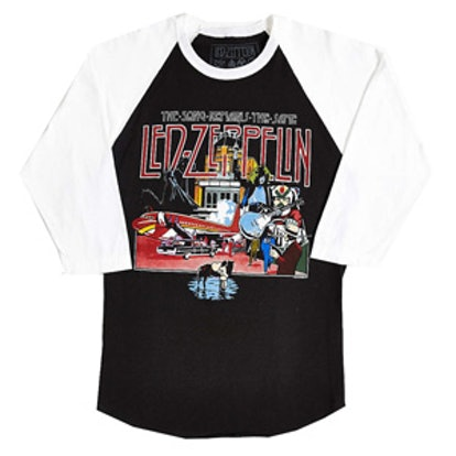 Led Zeppelin World Tour 1980 Raglan Tee