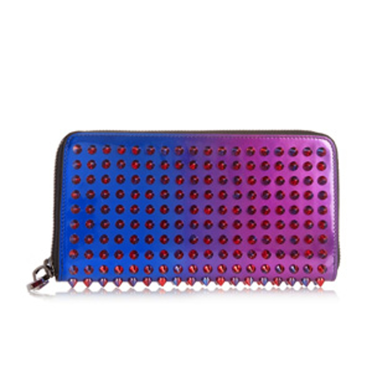 Spiked Patent-Leather Wallet