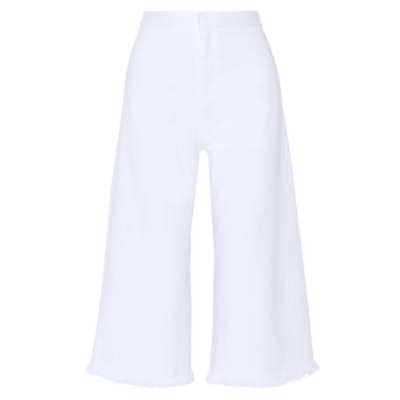 Clean-Stretch Denim Culottes