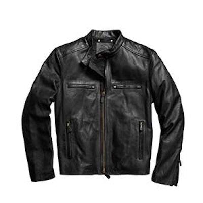 Bleecker Leather Racer