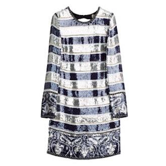 Sequin Embellished Georgette Dress