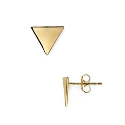 Sloped Triangle Stud Earring