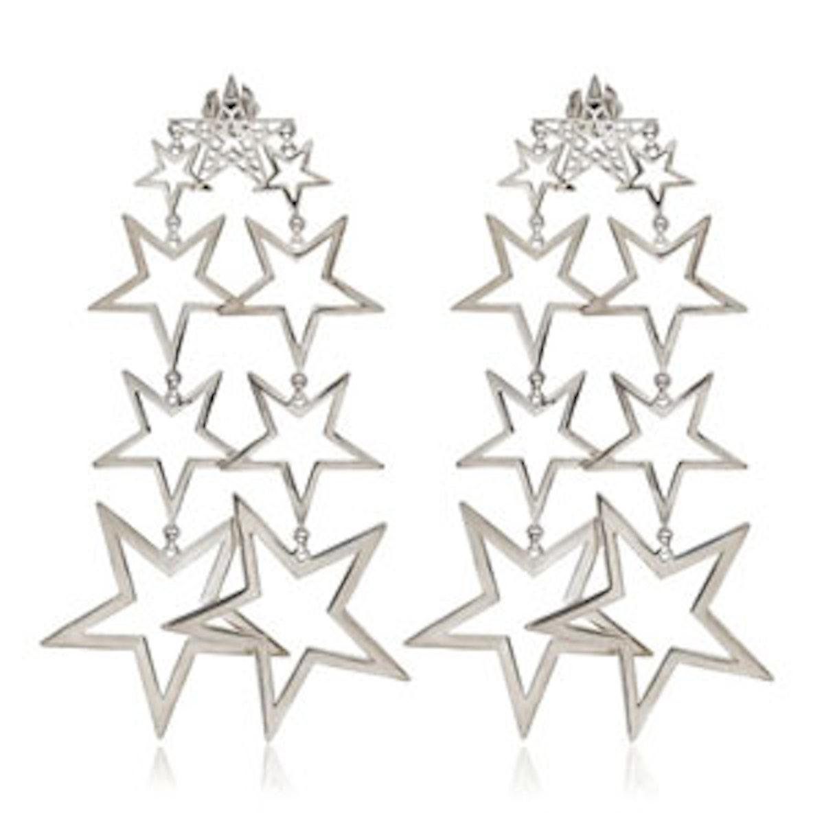 Chandelier Star Earrings