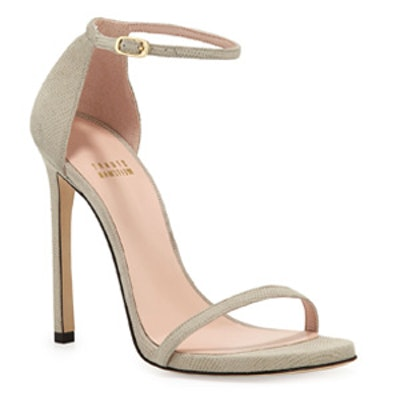 Nudist Ankle-Strap Sandal in Fawn