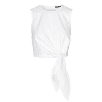 Cropped Cotton-Poplin Top