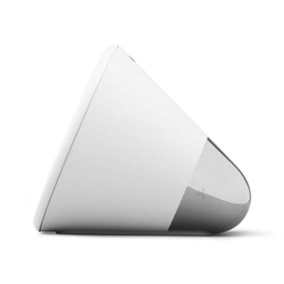 Cone Speaker in White + Silver