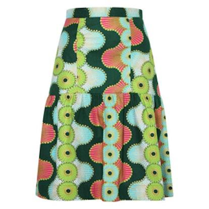 African Print Panelled Skirt