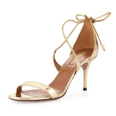 Linda Metallic Leather Sandal