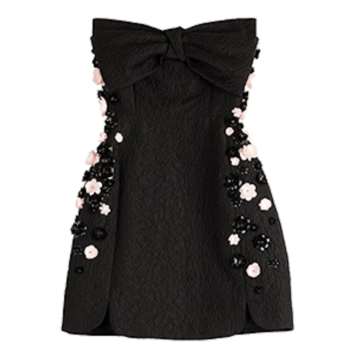 Embellished Cloqué Dress