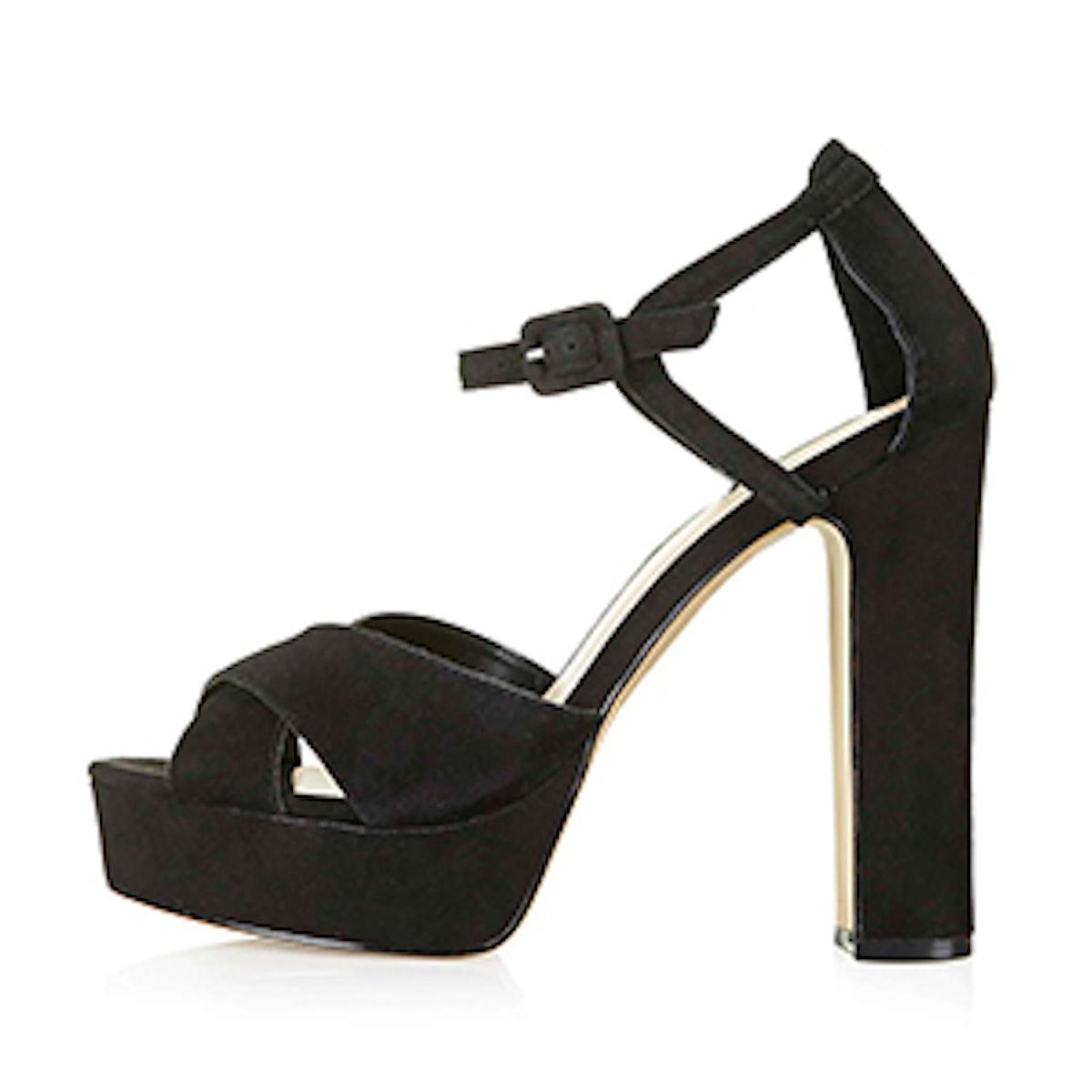 Locket Suede Platform Sandals