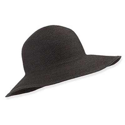Black Woven Sun Hat