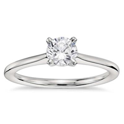 0.5 Carat Round Cut Diamond & Platinum Ring