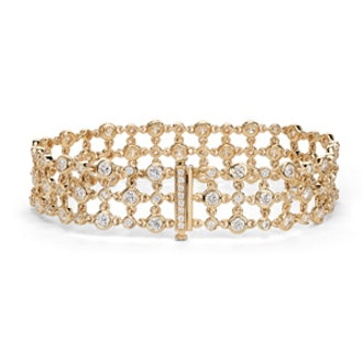 Blue Nile Studio Diamond Floral Triple Line Bracelet