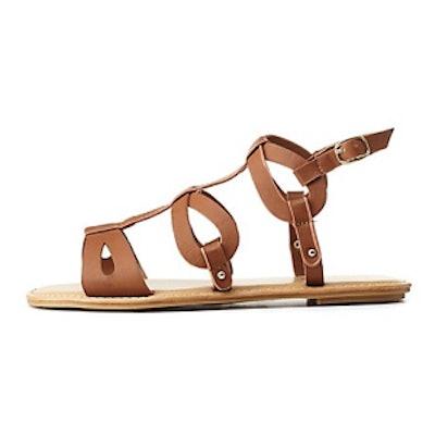 Bamboo Looped Flat Gladiator Sandal