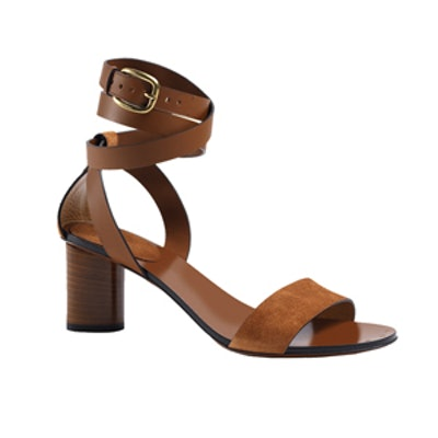 Candy Suede Mid-Heel Sandal