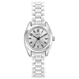 White Silicone Strap Watch