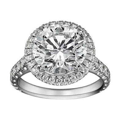 0.5 Carat Brilliant Cut Diamond & Platinum Ring, Starting At $8850