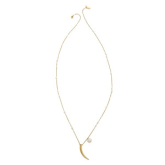 Freshwater Cultured Pearl Tusk Necklace