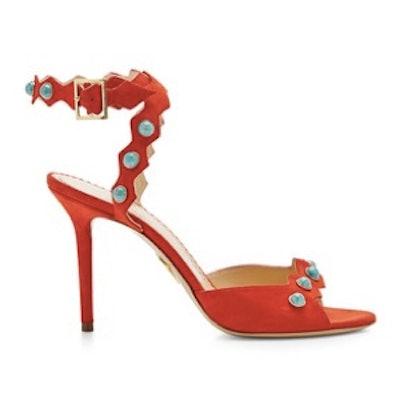 Santa Fe Suded Embellished Sandals