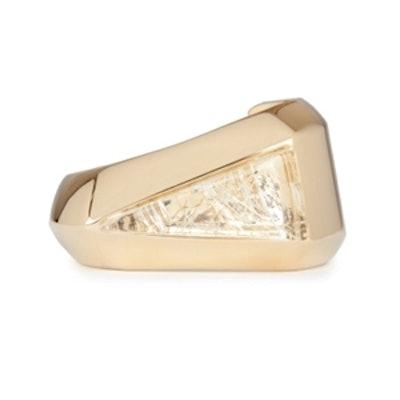 Bettina Transparent Gold Cuff