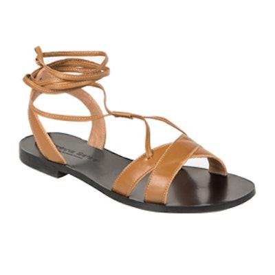 Sappho Tan Gladiator Sandals