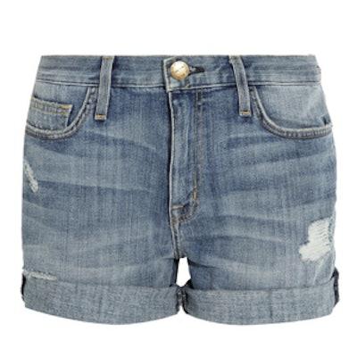 The Boyfriend Rolled Denim Shorts