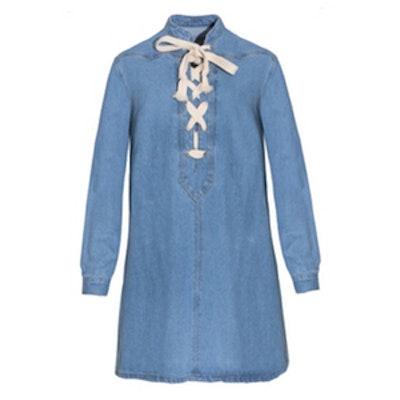Lace-Up Tunic Dress