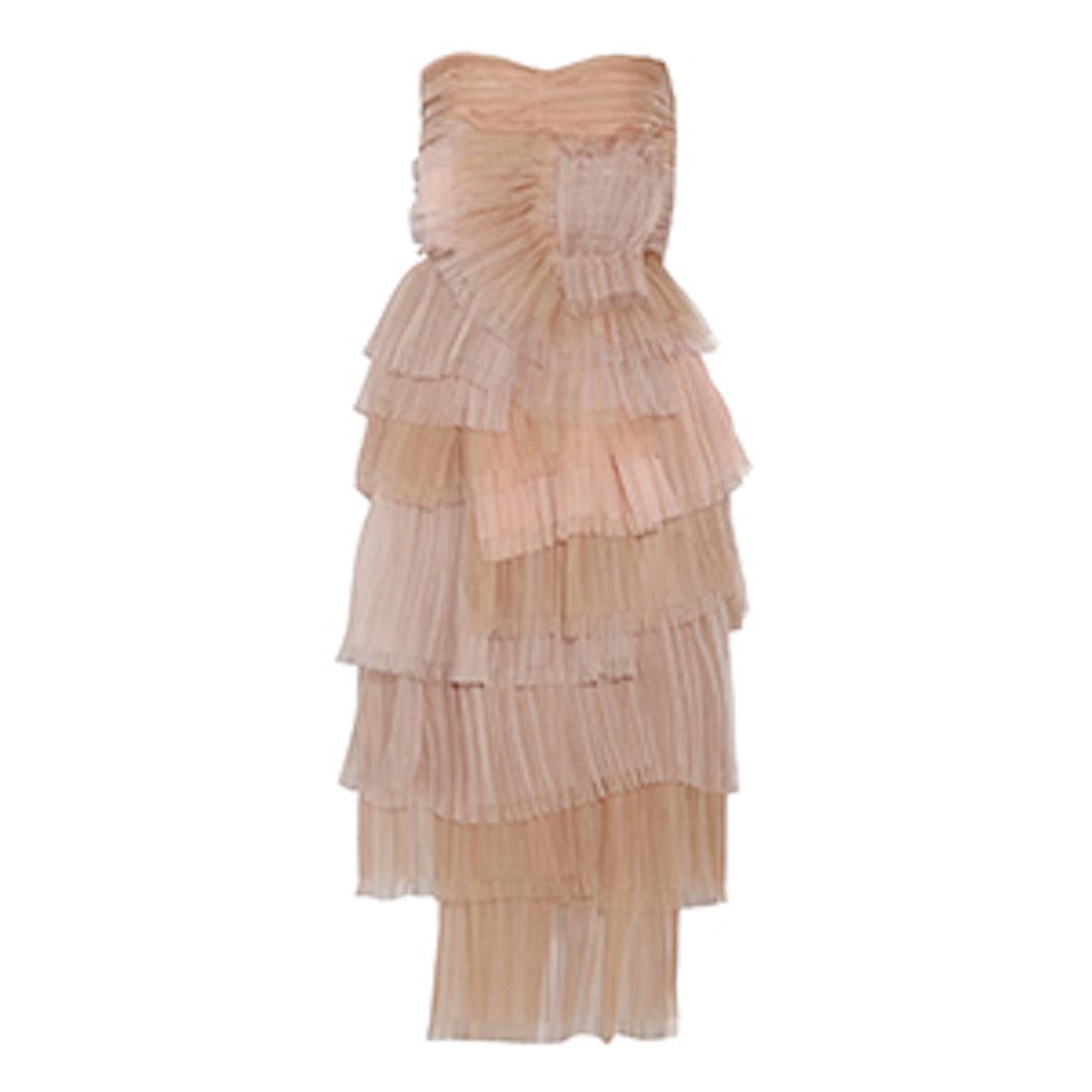 Tiered Silk-Organza Dress