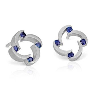 Bree Richey Sapphire Stud Earrings