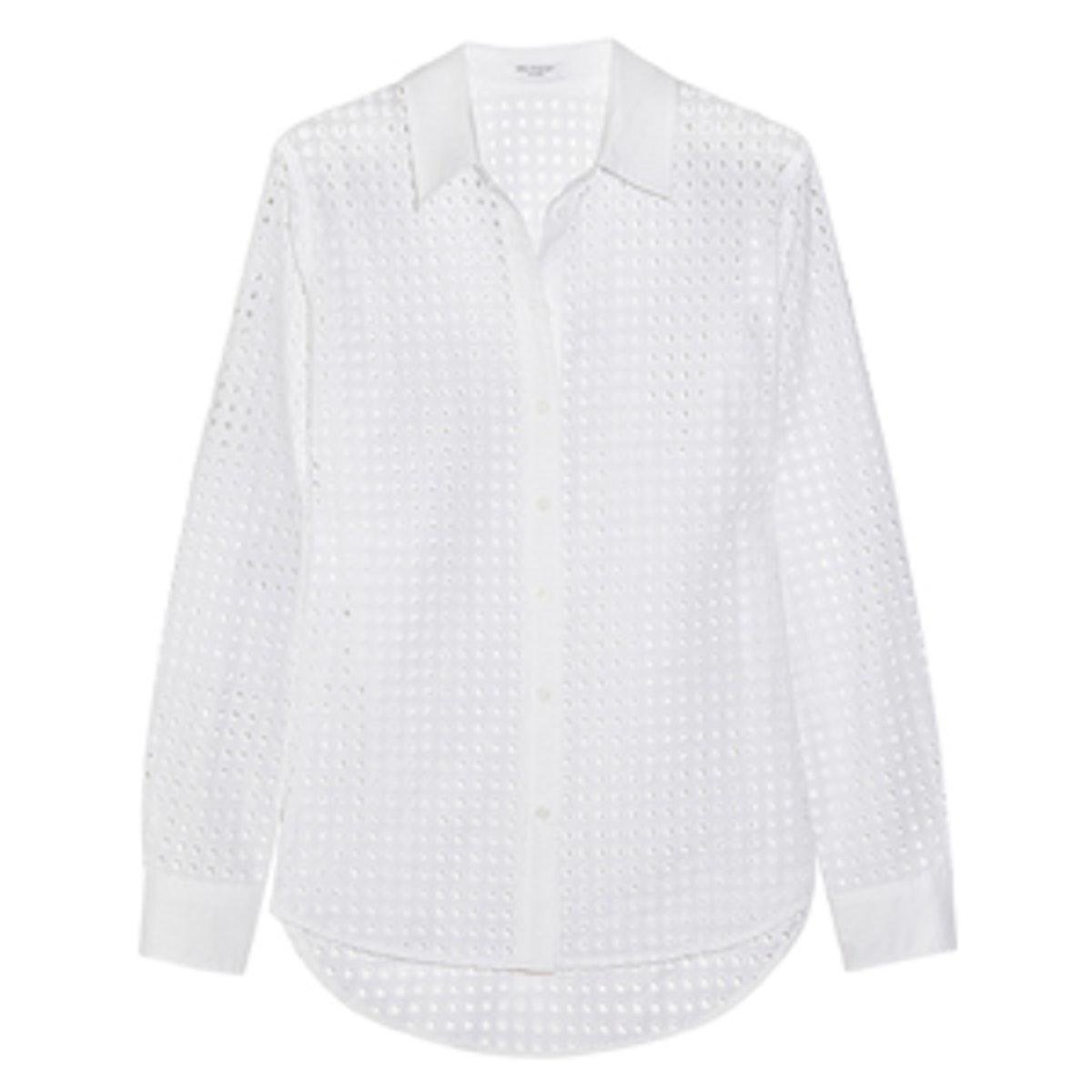 Brett Broderie Anglaise Cotton Shirt