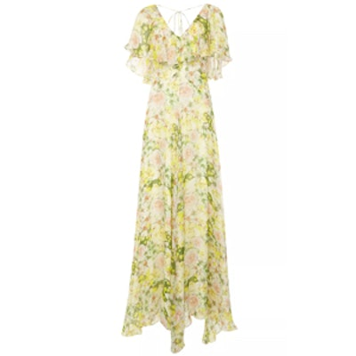 Mariana Ruffled Silk Chiffon Dress