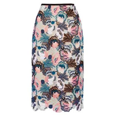 Safia Guipure Lace Midi Skirt