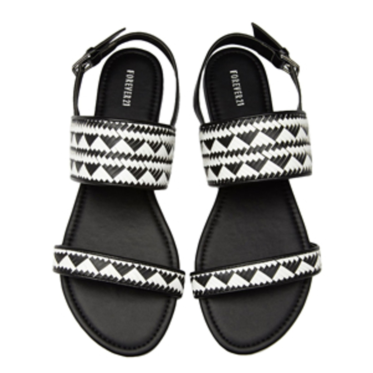 Faux Leather Woven Sandals