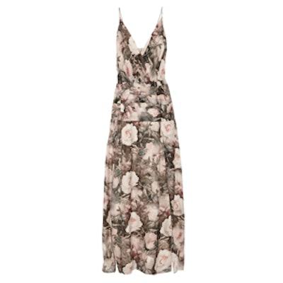Rachel Floral-Print Silk-Chiffon Maxi Dress